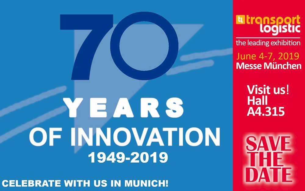Infobild zum 70. Jubiläum auf der Messe München